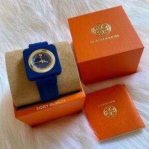 Tory Burch Izzie Watch 36mm, Navy/Gold/